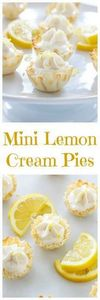 Mini Lemon Cream Pies | These one  - 250 Lemon Recipes - RecipePin.com