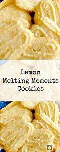Lemon Melting Moments Cookies - A  - 250 Lemon Recipes - RecipePin.com