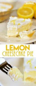 This Lemon Cheesecake Pie recipe i - 250 Lemon Recipes - RecipePin.com