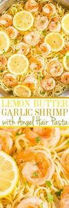 Lemon Butter Garlic Shrimp with An - 250 Lemon Recipes - RecipePin.com
