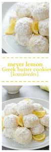 Meyer Lemon Greek Butter Cookies ( - 250 Lemon Recipes - RecipePin.com