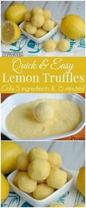Easy Lemon Truffle - 250 Lemon Recipes - RecipePin.com