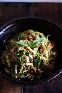 ZUCCHINI SPAGHETTI with SUN-DRIED - 380 Non-Dairy Recipes - RecipePin.com