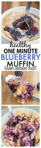 Healthy 1 Minute Blueberry Muffin- - 380 Non-Dairy Recipes - RecipePin.com