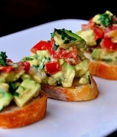 Guacamole Bruschetta - Ingredients - 380 Non-Dairy Recipes - RecipePin.com