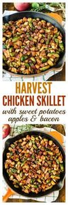 Harvest Chicken Skillet with Sweet - 380 Non-Dairy Recipes - RecipePin.com