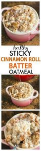 Sticky Cinnamon Roll Batter Oatmea - 380 Non-Dairy Recipes - RecipePin.com