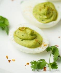 Guacamole Deviled Eggs: The perfec - 380 Non-Dairy Recipes - RecipePin.com