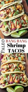 Paleo Bang Bang Shrimp Tacos - Thi - 380 Non-Dairy Recipes - RecipePin.com