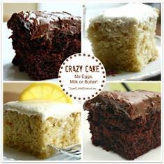 CRAZY CAKE, also known as Wacky Ca - 380 Non-Dairy Recipes - RecipePin.com