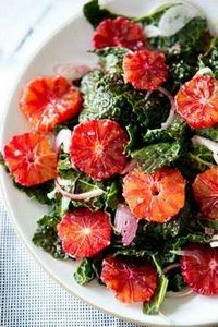 kale & blood orange salad. - 380 Non-Dairy Recipes - RecipePin.com