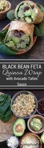 Black Bean Feta Quinoa Wrap with A - 380 Non-Dairy Recipes - RecipePin.com