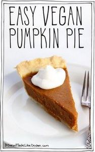 Easy Vegan Pumpkin Pie. All you do - 380 Non-Dairy Recipes - RecipePin.com