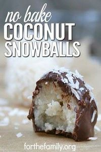 No Bake Coconut Snowballs--Paleo, - 380 Non-Dairy Recipes - RecipePin.com