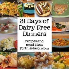 31 Days of Dairy Free Dinners (Rec - 380 Non-Dairy Recipes - RecipePin.com