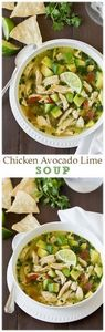 Chicken Avocado Lime Soup - this s - 380 Non-Dairy Recipes - RecipePin.com