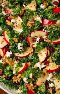 Autumn Kale Apple and Quinoa Salad - 380 Non-Dairy Recipes - RecipePin.com