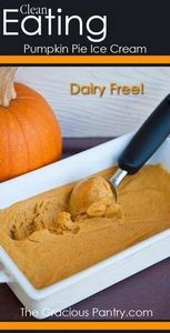 Clean Eating Pumpkin Pie Ice Cream - 380 Non-Dairy Recipes - RecipePin.com