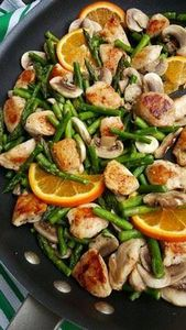 Orange Chicken Stir-Fry with Aspar - 380 Non-Dairy Recipes - RecipePin.com