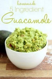 5 ingredient guacamole - 380 Non-Dairy Recipes - RecipePin.com