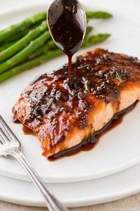 Balsamic+Glazed+Salmon - 380 Non-Dairy Recipes - RecipePin.com