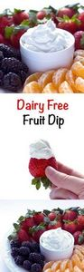 Dairy Free Fruit Dip - Fluffy, swe - 380 Non-Dairy Recipes - RecipePin.com