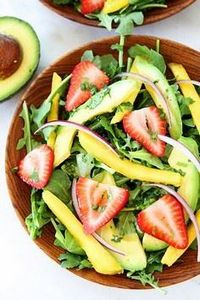 Mango, Strawberry, and Avocado Aru - 380 Non-Dairy Recipes - RecipePin.com