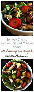 Spinach Berry Balsamic Glazed Chic - 380 Non-Dairy Recipes - RecipePin.com