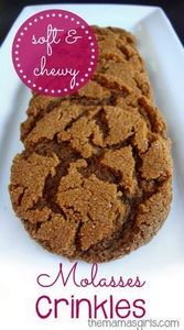 Soft & Chewy Molasses Crinkles - 380 Non-Dairy Recipes - RecipePin.com