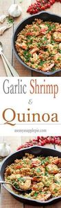 Garlic Shrimp and Quinoa - a simpl - 380 Non-Dairy Recipes - RecipePin.com