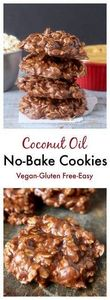 Coconut Oil No-Bake Cookies- A del - 380 Non-Dairy Recipes - RecipePin.com
