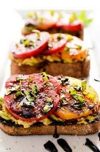 Avocado Heirloom Tomato Toast With - 380 Non-Dairy Recipes - RecipePin.com