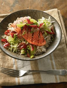 Grilled Ginger Salmon Ricke Bowl W - 380 Non-Dairy Recipes - RecipePin.com