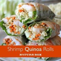 These Shrimp Quinoa Spring Rolls l - 380 Non-Dairy Recipes - RecipePin.com
