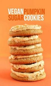 ONE BOWL Vegan Pumpkin Sugar Cooki - 380 Non-Dairy Recipes - RecipePin.com