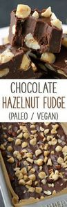 Chocolate Hazelnut Fudge {paleo-fr - 380 Non-Dairy Recipes - RecipePin.com