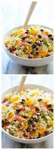 Black Bean Quinoa Salad - 380 Non-Dairy Recipes - RecipePin.com