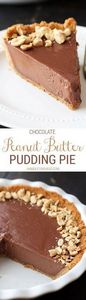 Like a giant REESE'S peanut butter - 250 Pie Recipes + Tart Recipes - RecipePin.com
