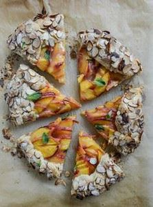 ginger peach galette with almond c - 250 Pie Recipes + Tart Recipes - RecipePin.com