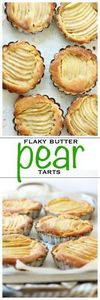 Sliced pears baked in a flaky past - 250 Pie Recipes + Tart Recipes - RecipePin.com
