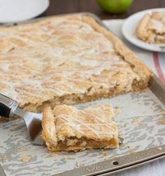 Frosted Apple Slab Pie by @Tracey' - 250 Pie Recipes + Tart Recipes - RecipePin.com
