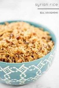 Syrian Rice is a traditional Thank - 275 Rice Recipes - RecipePin.com