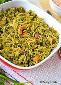 Quick Palak Rice / Spinach Rice - 275 Rice Recipes - RecipePin.com