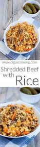 Shredded Beef with Rice - 275 Rice Recipes - RecipePin.com