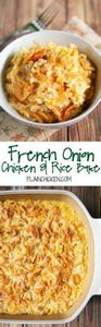 French Onion Chicken and Rice Bake - 275 Rice Recipes - RecipePin.com