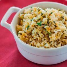 Lemon Brown Rice with Garlic and T - 275 Rice Recipes - RecipePin.com