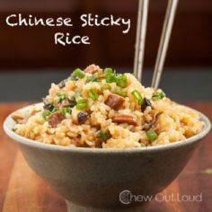 Chinese Sticky Rice - Easily make  - 275 Rice Recipes - RecipePin.com