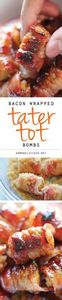 Bacon Wrapped Tater Tot Bombs - Th - 300 Tailgating Recipes - RecipePin.com