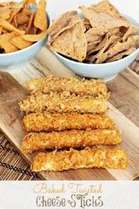 Baked Twisted Cheese Sticks ~ Crun - 300 Tailgating Recipes - RecipePin.com
