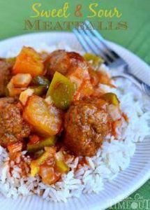Grandma's Sweet and Sour Meatballs - 300 Tailgating Recipes - RecipePin.com
